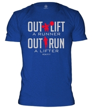 RokFit Outlift a Runner, Outrun a Lifter T-Shirt