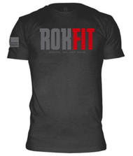 CrossTrainingUK - RokFit Logo Heather Grey with American Flag T-Shirt