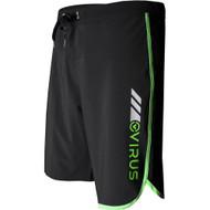 VIRUS Airflex 4-Way Stretch Training Shorts Black and Green