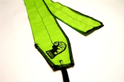 "CrossTrainingUK - STRENGTH WRAPS - ""FIERCE LIME"" EXTRA LONG"