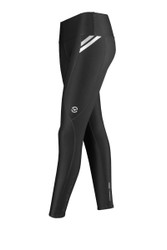 VIRUS Women's Stay Cool Full Length Compression Pants Black/Silver
