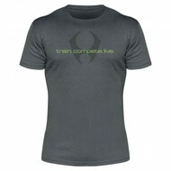 HYLETE train. compete. live. 1.0 tee (Slate/Neon Green)