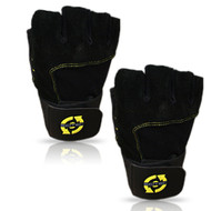 SciTec Nutrition WeightLifting Gloves Yellow Style Wrist Wrap