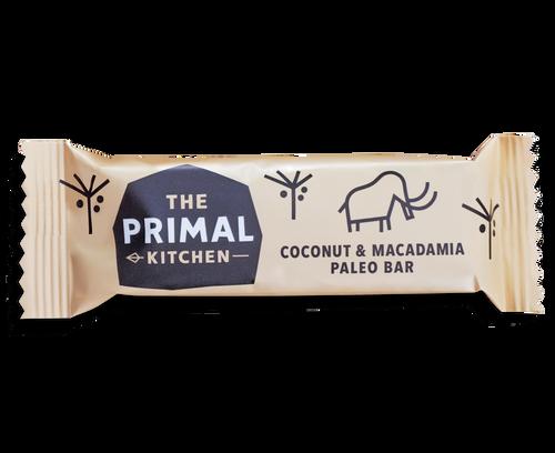 the primal kitchen coconut & macadamia bars (18x45g) - battle box uk