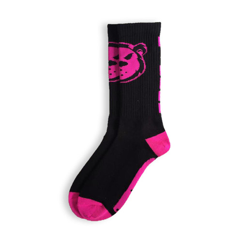 Killer Cub Virus Ankle Socks Neon Black Pink One Size www.battleboxuk.com