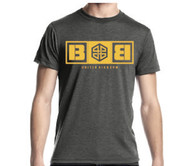 Battle Box Logo Charcoal Yellow T-shirt crossfit rogue