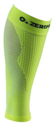 ZERO POINT COMPRESSION PERFORMANCE CALF SLEEVES OX LIME YELLOW - BattleBoxUK.com