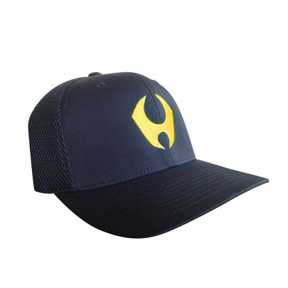 HYLETE PERFORMANCE FLEXFIT HAT 3.0 (BLACK/ATOMIC YELLOW)