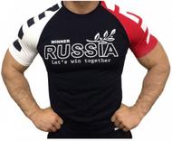 Klokov Winner New Russia 3 Colour Compression Tee Футболка 3 (color)