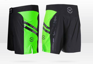 "VIRUS Disaster Combat Shorts - Cub Swanson ""Killer Cub"" Black Body With Lime Panel"