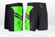 "VIRUS Disaster Combat Shorts - Cub Swanson ""Killer Cub"" Black Body With Lime Panel"