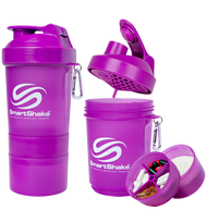 SmartShake Protein Smart Shaker 600ml Neon Purple