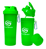 SmartShake Protein Slim Line Smart Shaker 500ml Neon Green