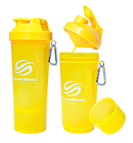 SmartShake Protein Slim Line Smart Shaker 500ml Neon Yellow