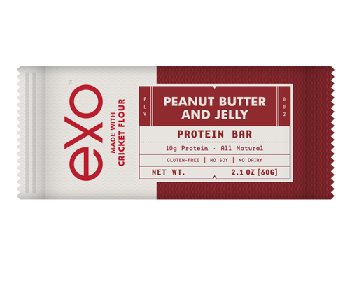 EXO CRICKET PROTEIN 100% PALEO PEANUT BUTTER & JELLY BOX