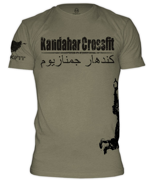Rokfit Kandahar Crossfit T Shirt Green Battle Box Uk