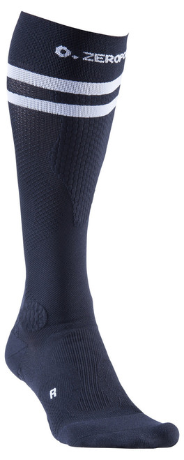 ZERO POINT INTENSE COMPRESSION SOCKS - 2 STRIPE - LIMITED EDITION BLACK - BattleBoxUk.com