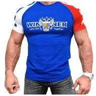 KLOKOV WINNER 3 COLOR BLUE T-SHIRT