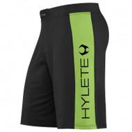 HYLETE vertex comp internal pocket short (black/neon green)