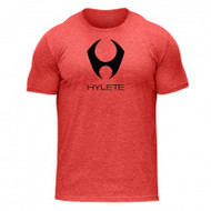 HYLETE stacked tri-blend crew tee (vintage red/stealth black)