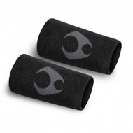 "Hylete 6"" icon reverse terry sweatband (black/gun metal)"