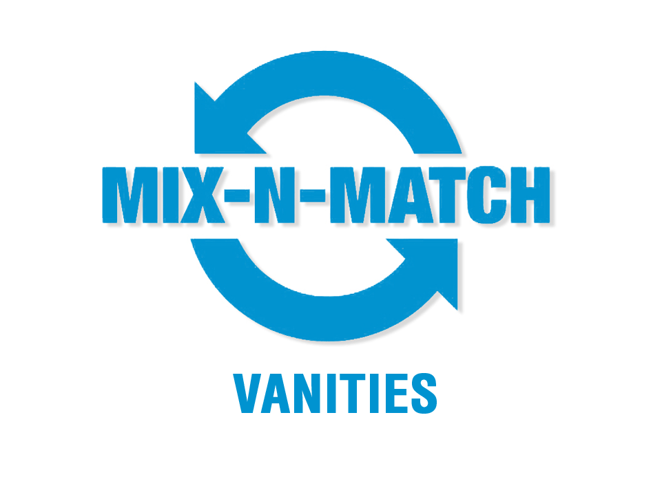 Mix and match vanity range