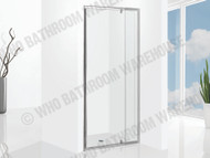 Project - 1050-1250 Pivot DOOR - Polished Chrome - Framed - Shower Screen - 12497
