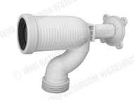 Pan Bend - Multi Fit - White - Waste - Plumbing - 12647