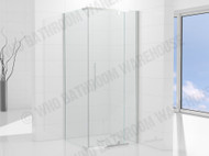 Elly - 1000 Door & 1000 Wall Screen SET - Semi Frameless - Shower Screen - 12434