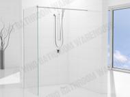 Premier DLX - 900 Wall & Support Bar - Semi Frameless - Shower Screen