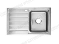 Coventry - 800-Right - Linished Stainless - Kitchen - Sink/Trough - 13742