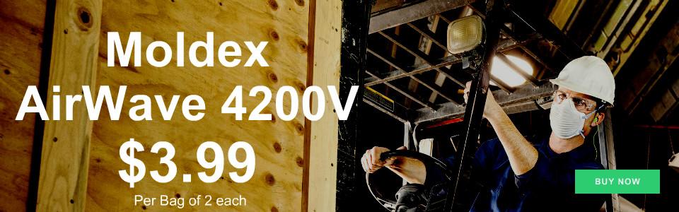 Moldex AirWave 4200V N95 Respirator $3.99 per bag of 2 each