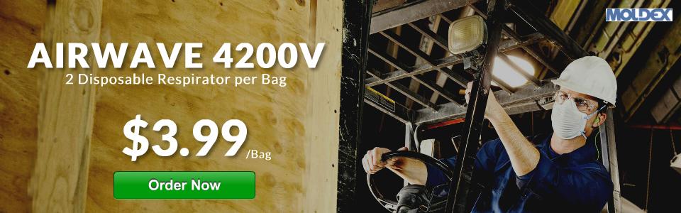 New Moldex Airwave 4200 N95 Disposable Respirator