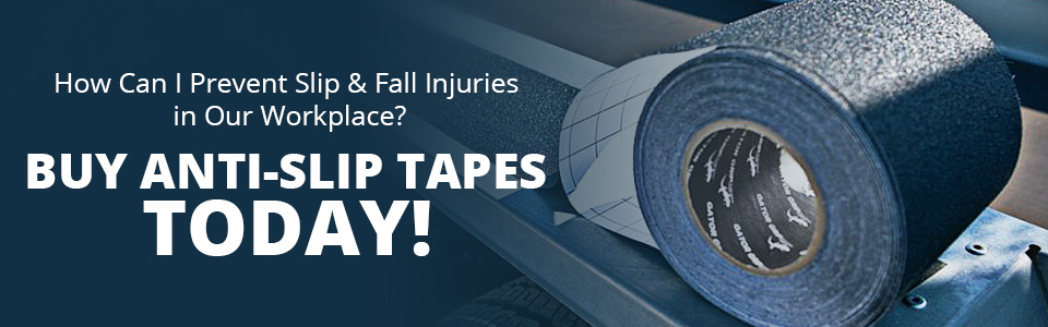 Anti-Slip Tape can reduce slip and fall injuries Today.