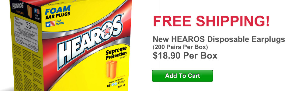 FREE SHIPPING on Hearos Earplugs