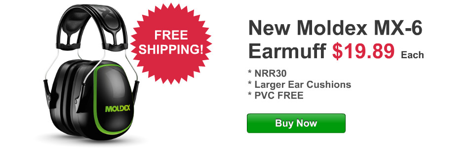FREE Shipping on new Moldex MX-6 Earmuff