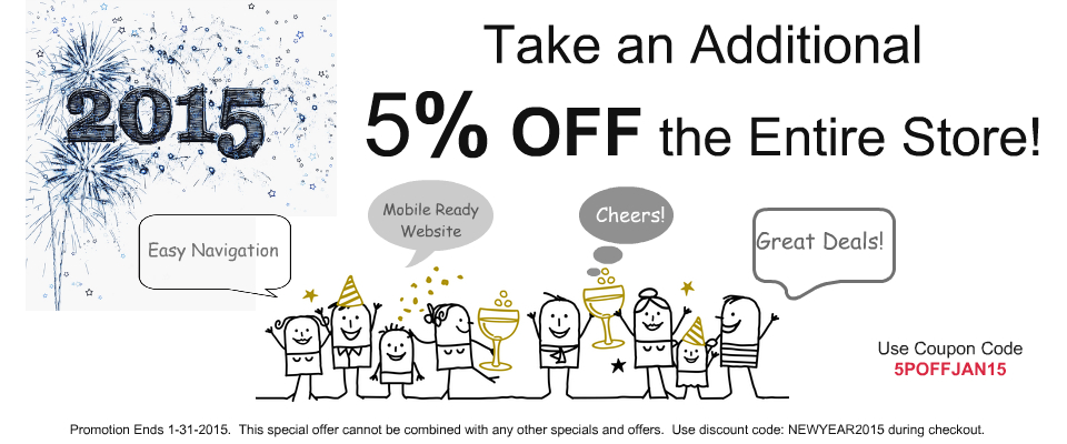 Use coupon 5POFFJAN15 during checkout and receive additional discount.