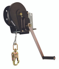 FallTech 7290 60' Personnel Winch with Galvanized Cable and SS Hook