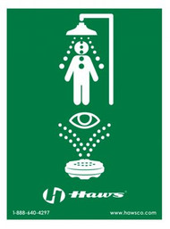 Haws SP178 Universal Emergency Shower and Eyewash Sign. Shop Now!