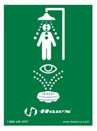 SP178LG Large Universal Emergency Shower Eyewash Sign