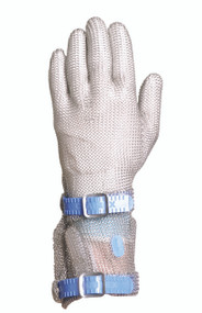 Chainex 54241 Metal Mesh Gloves with Plastic Strap and 3.5 Inch Cuff