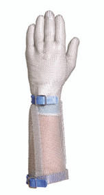 Chainex 54231 Metal Mesh Gloves with Plastic Strap and 7.5 Inch Cuff