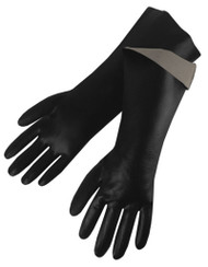 "18"" Smooth Chemical Resistant PVC Gloves"