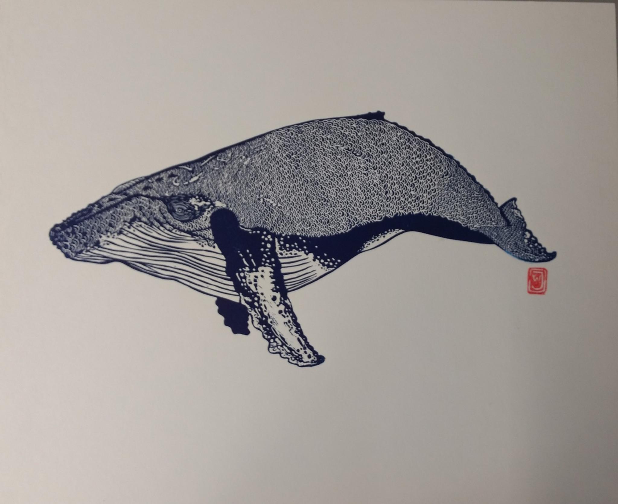 Humpback Whale Lino Print