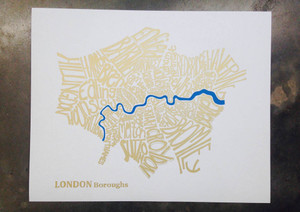 Mini Print A4 Gold London