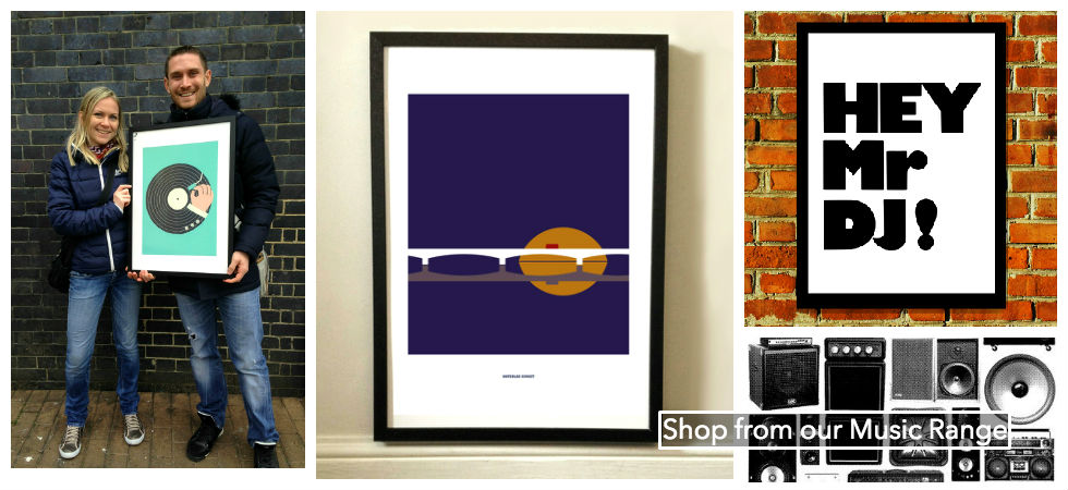 Buy Music Prints from East End Print's Music Range