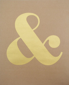 Ampersand - Gold Screen-print