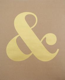 Ampersand - Gold Screen-print