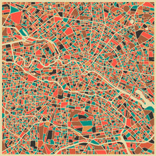 Berlin Street Map by Jazzberry Blue
