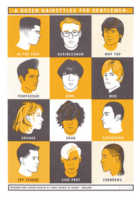 A Dozen Hairstyles for Gentlemen - Limited Edition Print